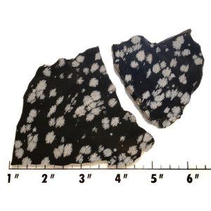 Slab1236 - Snowflake Obsidian Slabs