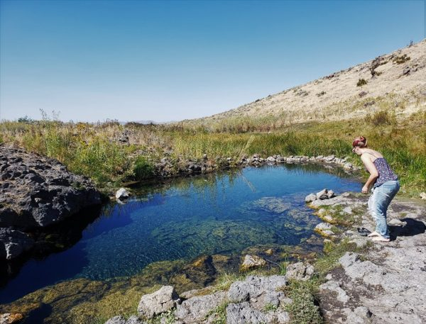 a hot spring in ID