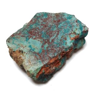 Chrysocolla in Quartz Rough #10