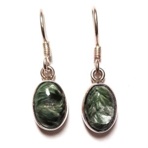 Seraphinite Wire Earrings #10