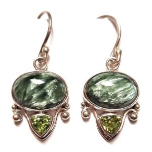 Seraphinite Wire Earrings #20