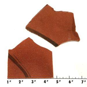 Slab1182 - Red Goldstone Slabs