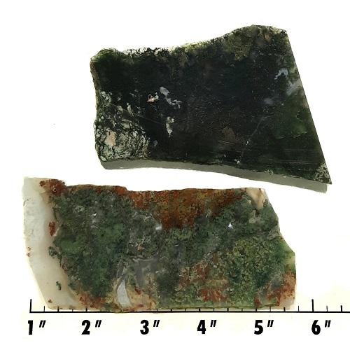 Slab135 - Green Moss Agate slabs