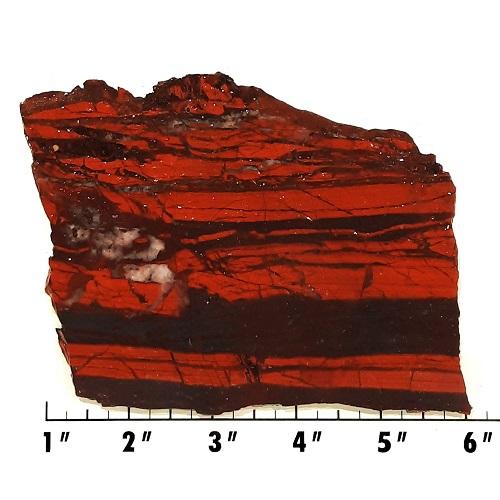 Slab1613 - Red Jasper Hematite slab