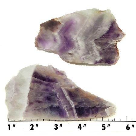 Slab1825 - Chevron Amethyst Slabs