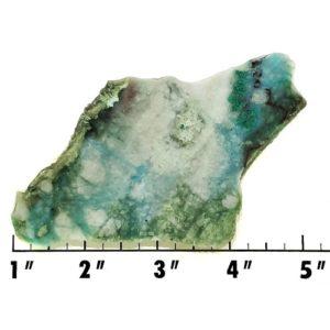 Slab1273 - Chrysocolla in Quartz Slab