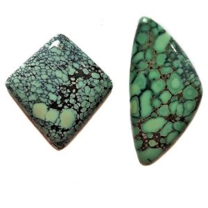 Peacock Turquoise Cabochons from Nevada