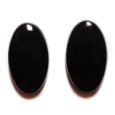 Cab1133 - Black Nephrite Jade Cabochon