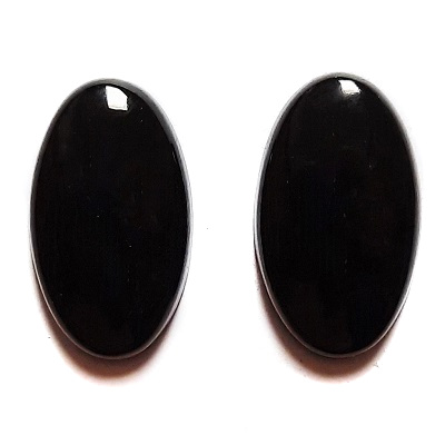 Cab1178 - Black Nephrite Jade Cabochon