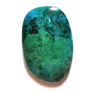 Parrot Wing Chrysocolla Cabochons from Mexico