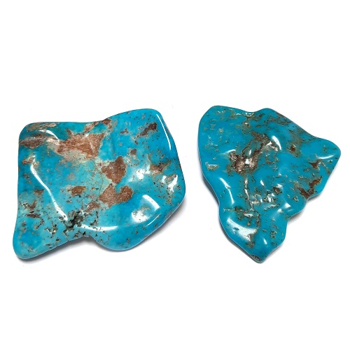 Nacozari Polished Turquoise Flats #11
