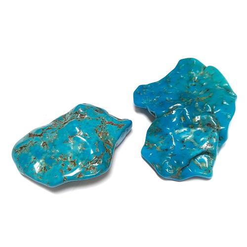 Nacozari Polished Turquoise Flats #2