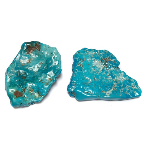 Nacozari Polished Turquoise Flats #3