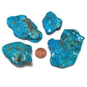 Nacozari Stabilized and Polished Turquoise Flats - $700/lb