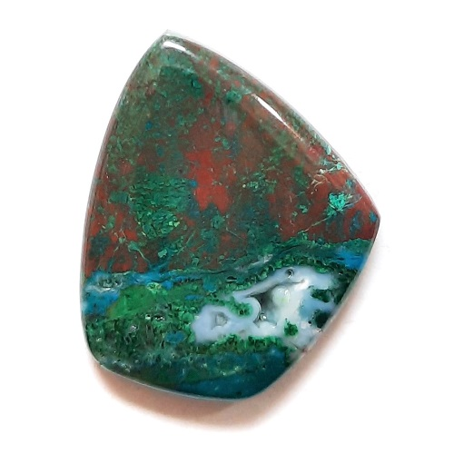 Cab2 - Parrot Wing Chrysocolla Cabochon