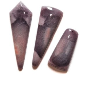 Tiffany Stone (Bertrandite) Cabochons from Utah