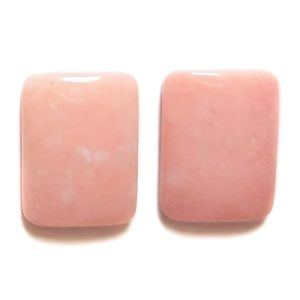 Cab400 - Pink Opal Cabochon Pair