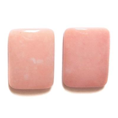 Cab400 - Pink Opal Cabochon Pair