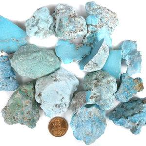 Campitos Stabilized Turquoise Medium Size Rough - $145.00/pound (~$0.32/gram)