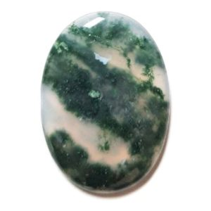 Cab1270 - Green Moss Agate cabochon