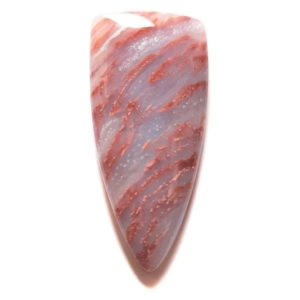 Cab229 - Red Flame Agate Cabochon