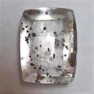 Cab3102 - Pyrite In Quartz Cabochon