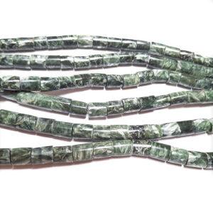 Seraphinite Barrel Beads