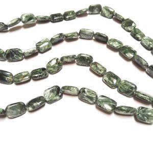 Seraphinite 11x14mm Cushion Beads