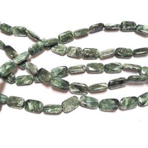 Seraphinite 12x20mm Cushion Beads