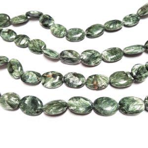 Seraphinite 14x18mm Oval Beads