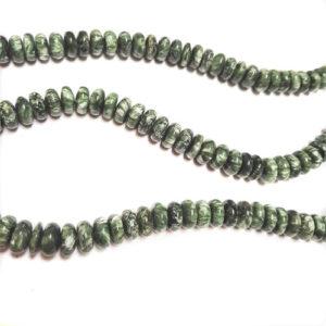 Seraphinite 12mm Rondelle Beads