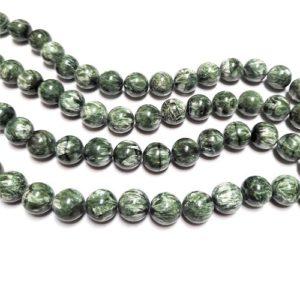 Seraphinite Beads from Russia