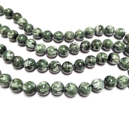 Seraphinite 14mm Round Beads