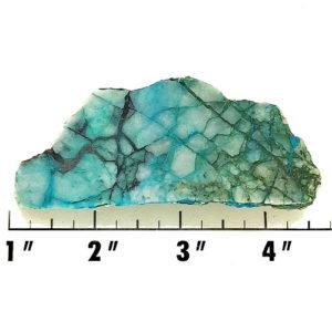 Slab936 - Chrysocolla in Quartz Slab