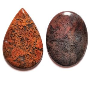 Maury Mountain Moss Agate Cabochons from Oregon