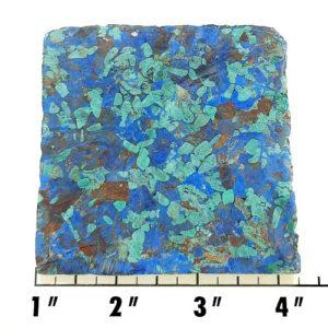 Slab983 - Azurite and Malachite Pressed Block Slab