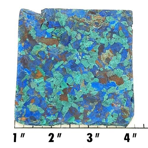 Slab985 - Azurite and Malachite Pressed Block Slab