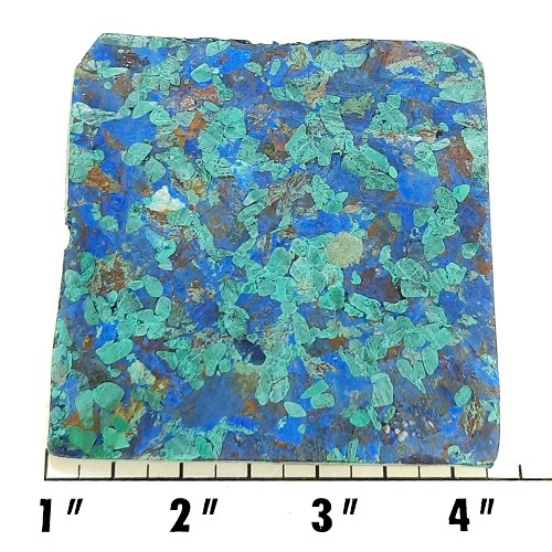 Slab986 - Azurite and Malachite Pressed Block Slab