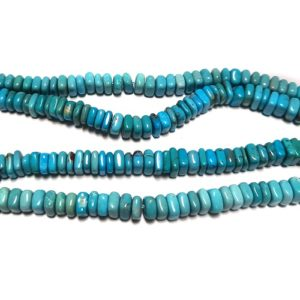 Bead-Turquoise16C - Stabilized Turquoise Square Beads