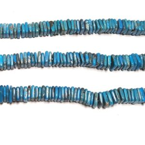 Stabilized Turquoise Square Beads