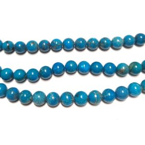 Stabilized Turquoise 8mm Round Beads