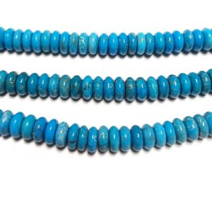 Stabilized AA+ Quality Turquoise Rondelle Beads