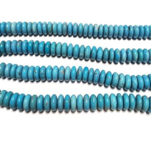 Stabilized Turquoise Rondelle Beads