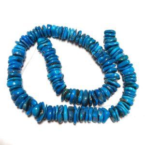 Stabilized Turquoise Irregular Disc Beads #21