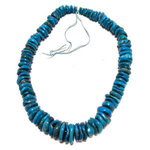 Stabilized Turquoise Irregular Disc Beads #24