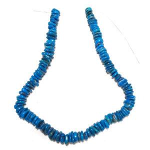 Stabilized Turquoise Irregular Disc Beads #26