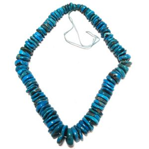 Stabilized Turquoise Irregular Disc Beads #27