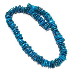 Stabilized Turquoise Irregular Disc Beads #41