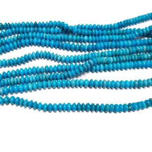 Stabilized Turquoise 4x2mm Button Beads