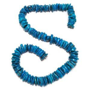 Stabilized Turquoise Irregular Disc Beads #54